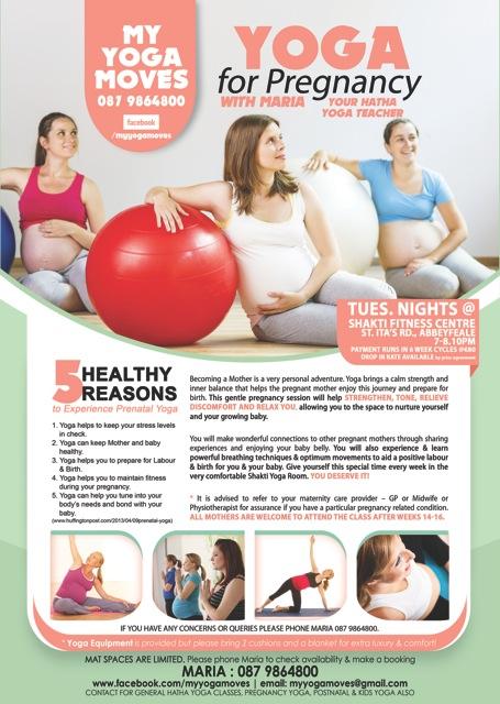 sept 2014 prenatal yoga with Maria